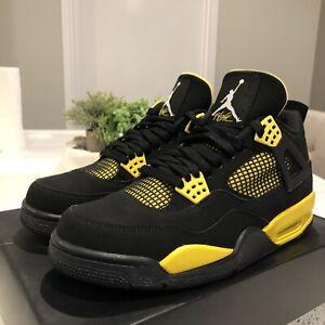 2012 Nike Air Jordan IV 4 Thunder Tour Yellow Size 9.5 Worn Once xi ii i 1 3 11