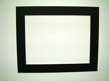Picture Framing Mats 8x10 for 6x9 photo set of two mats black mats