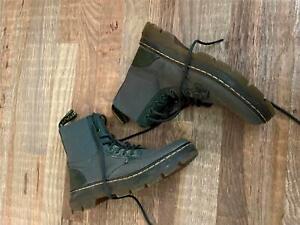 Dr. Martens Women Shoes Gray Combat Boots Women Size 8