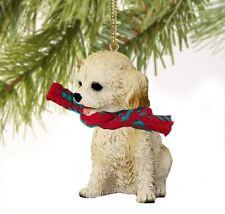 Cockapoo (Blonde) Dog Christmas Ornament Holiday Xmas Figurine scarf gift