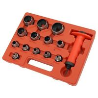 14pc Heavy Duty 5-35mm HOLLOW PUNCH SET Hole Perforating Tool Kit Rubber Leather