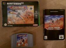 N64 Star Wars Rogue Squadron en boîte avec manuel-CIB-Nintendo 64 GAME-Très bon état