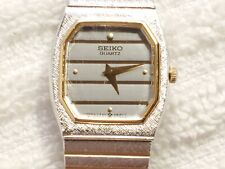 Vintage 1970's Seiko Quartz Watch two Tone Five Jewels Stainless Steel Women's