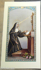 Image pieuse avec prière Sainte Rita 11,5 cm x 6,5 cm