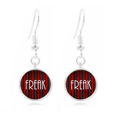 Circus Freak glass Earrings Art Photo Tibet silver Earring Jewelry #102