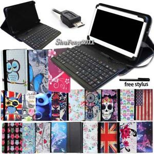 Leather Stand Cover Case With Keyboard For LG G Pad 7.0 8.0 8.3 10.1 Tablet +Pen