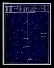 Astronomy Deep Sky Star Chart no 11 Constellation Cetus Galaxies Sarna Map