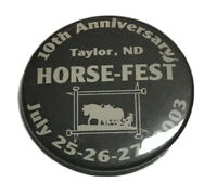 Taylor Horsefest Pin Farming Agriculture Equipment Farm Horses North Dakota 2003