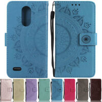 Mandala ID Wallet Leather Flip Case Cover For LG K8 2017 G3 G4 G5 G6 G7 K10 2018