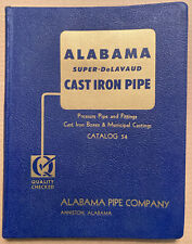 ALABAMA CAST IRON PIPE Catalog 54. 196 pages! circa 1955. Excellent