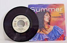 "45 RECORD 7"" - DONNA SUMMER - STATE OF INDEPENDENCE"