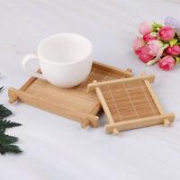 Taza de bambú accesorios de té manteles individuales posavasos decoración ho*QA