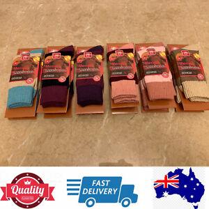 6 Pairs Quality Ladies Merino Lamb Wool Socks,Fashion Warm Comfy,AU Stock