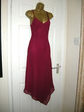 12 KALEIDOSCOPE MIDI DRESS DEEP RED CHIFFON DROP WAIST SUMMER WEDDING HOLIDAY