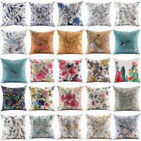 "Flower Bird Pillow Cover Throw Pillow Case Sofa Cushion Cover Home Decor 18""*18"""