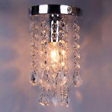 Chrome Crystal Droplets Pendant Light Lighting Silver Chandelier Fitting Lamp SM