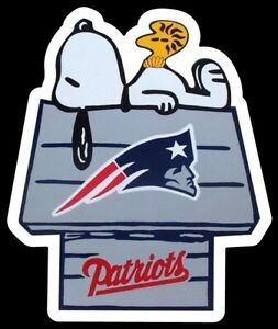 New England Patriots MAGNET custom Die Cut Snoopy Woodstock NFL Football Newton