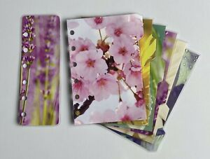 Filofax Pocket Sized Dividers in Beautiful Flower Designs - Fully Laminated
