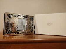 """New listing Lenox Portrait Gallery """"Our Wedding"""" 4 x 6 Silver Plate Photo Album Never Used"""