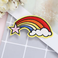 2pcs cute feather patches iron sew on embroidery applique diy cloth stickers  FT