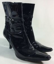 ENZO ANGIOLINI BLACK PATENT ANKLE BOOTS SIZE 6.5 M