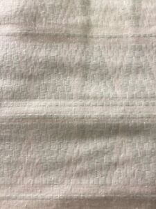 Threshold Diamond Mint Green Vertical Stripe Fabric Shower Curtain NWOT