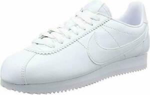 Women's Nike Classic Cortez Leather White/White (807471-102) Casual 8.5 9.5 new