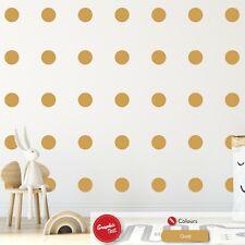 Polka Dots Wall Stickers x100 Nursery Circles Bedroom Decoration Vinyl Decal