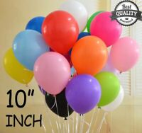 "10"" 10-100 Plain LATEX BALLOONS Helium Party, Birthday,Wedding, Christening"