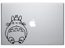 "Totoro Sit - Cartoon Decal Vinyl Car Wall Laptop Cellphone Decal Sticker 6""Black"