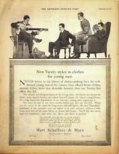Large 1912 Hart Schaffner & Marx Men's Varsity-Style Suits Ad