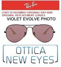 LENTI di Ricambio RAYBAN AVIATOR 3025 Z0 Replacement Lenses VIOLET PHOTO EVOLVE