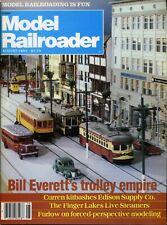 Model Railroader Magazine August 1983 Bill Everett's trolley empire