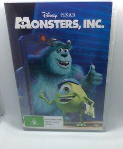 Monsters Inc Pixar Disney DVD region 4
