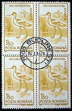 ROMANIA 1991:BIRDS: BLOCK OF 4 x 1.50L MNG WITH PRECANCEL