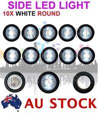 """10X 12V 1.25"""" Round 6 LED WHITE Side Light LED Marker Trailer Truck Lamp AU SHIP"""