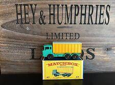 matchbox regular wheels no.47C-1.Rare Aqua Version mint E-3 Box excellent 1968
