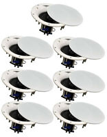 "7 Pack - TDX 6.5"" 2-Way Ceiling Wall Home Theater Speaker Flush Mount White New"