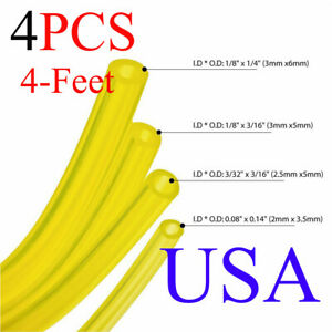 4 Sizes Gas Fuel Line Hose Yellow 16Ft Fuel Tube for 2 Cycle Small Engine USA