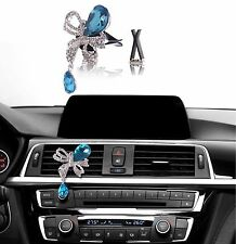 Bling Bling Car Accessories Interior Decoration for Girls - Blue Butterfly Bow