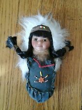BEAUTIFUL NATIVE AMERICAN INDIAN  DOLL IN MOCASIN GREAT CONDITION