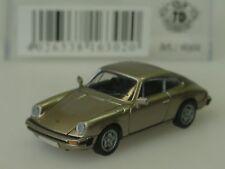 Brekina Porsche 911 Coupe, G-Modell 1976, beige metallic - 16302 - 1:87