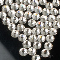 SS2-SS50 Crystal Clear Flatback Rhinestone Non Hotfix Nail Art Decoration DIY