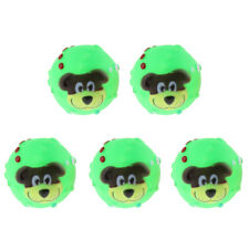 5x Pet Squeaky Chewing Balls Puppy Chew Toys Soft Balls Cleaning Teeth Toys