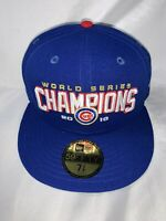 New Era 59Fifty Chicago Cubs 2016 World Series Champions Fitted Size 7 3/8