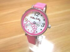 BRAND NEW CHILD/ TEEN HELLO KITTY WATCH MOTHER OF PEARL DIAL PINK FAUX LEATHER