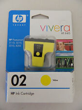Lot of 4 Yellow HP 02 Vivera Genuine Ink Cartridges C8773WN