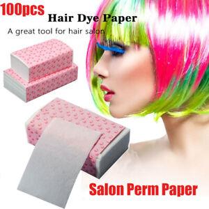 Pro Disposable Salon Salon Hair Dye Paper Dyeing Color Highlight Tissue 100pc c