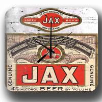 Jax bière américain marque Rétro Pub Bar BOITE MÉTAL SIGNE STYLE Horloge murale