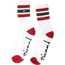 Diamond Supply Co 3 Pack 3 Stripe High Cut Socks (white / red / green)